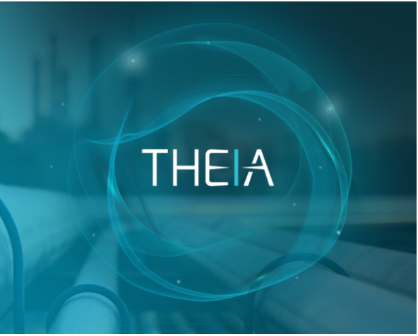 Image which shows the logo for THEIA pipeline integrity management software solution