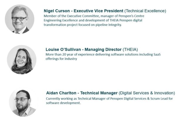 Image which shows the team for THEIA Pipeline Integrity Management Software Solution